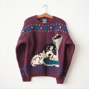 Vintage Woolrich Puppy & Boot Sweater